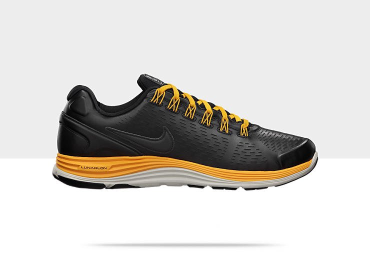 Nike LunarGlide+ 4 NSW 'Black/Black-University Red-Canyon Gold'