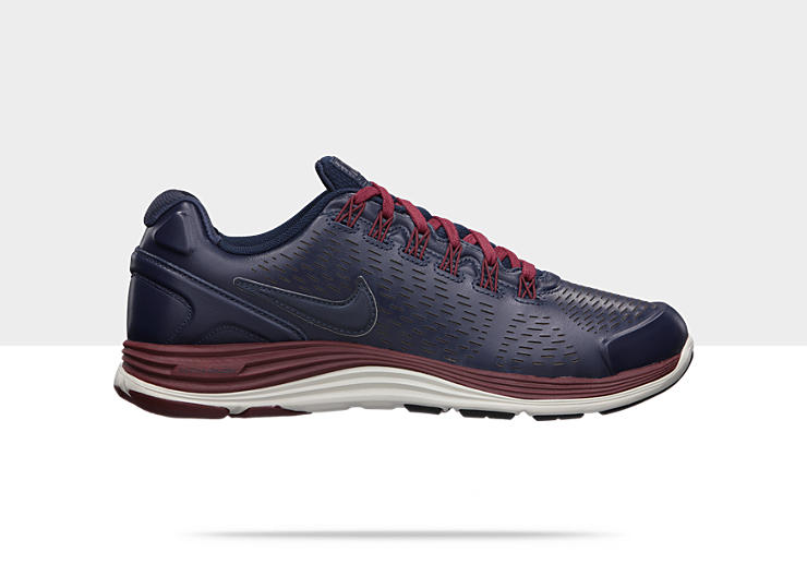 Nike LunarGlide+ 4 NSW 'Obsidian/Obsidian-Total Orange-Dark Team Red'