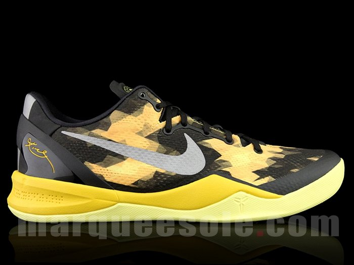 low priced 52465 d1963 Nike Kobe VIII (8)  Black Yellow  – New Images