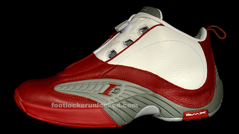 353a1ced785e Reebok Answer IV  White Red Flat Grey  at Foot Locker
