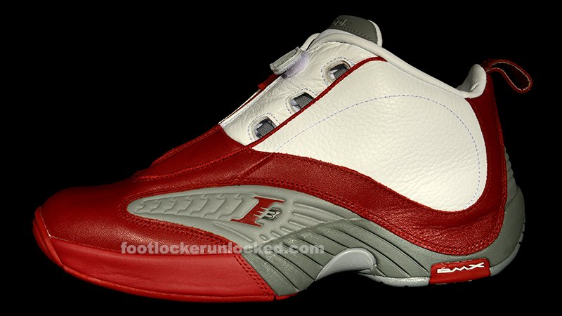 Reebok Answer Iv White Red Flat Grey At Foot Locker