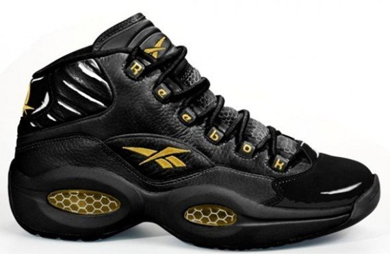 Reebok Question Mid 'Black/Metallic Gold' - New Images