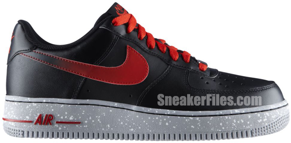 Release Reminder: Nike Air Force 1 Low 'Black/Challenge Red'