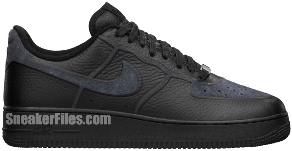 Release Reminder: Nike Air Force 1 Low Premium Skive Tech VT 'Black'
