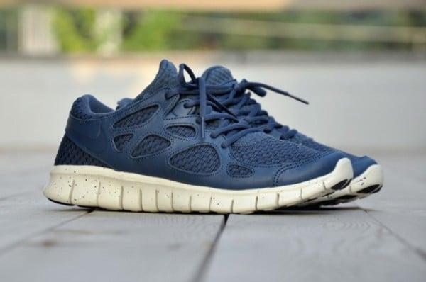 Release Reminder: Nike Free Run+ 2 Woven Leather TZ 'Squadron Blue'