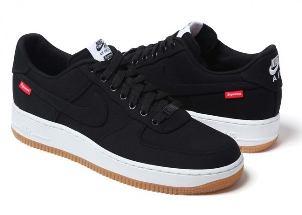 Release Reminder: Supreme x Nike Air Force 1 Low 'Black'
