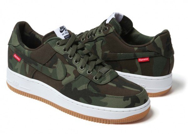Release Reminder: Supreme x Nike Air Force 1 Low 'Camo'