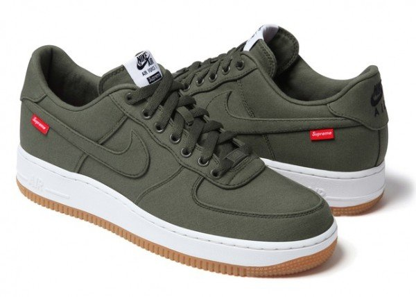 Release Reminder: Supreme x Nike Air Force 1 Low 'Olive'