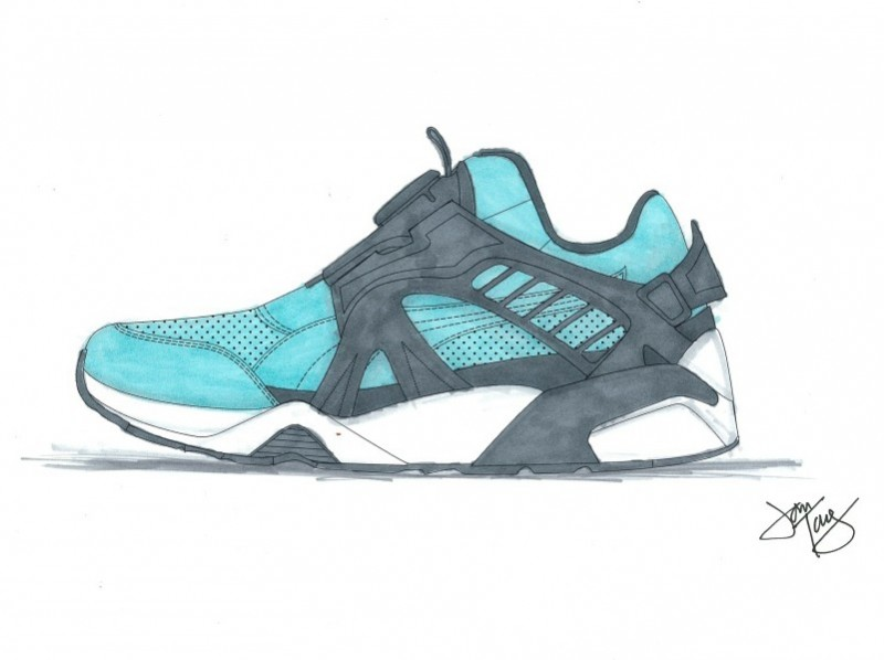 Ronnie Fieg x PUMA Disc Blaze OG 'Cove' Design Sketch
