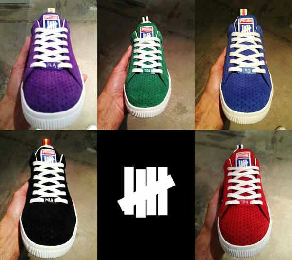 san francisco 28fc7 39f95 Undefeated x PUMA Clyde Game Time Pack | SneakerFiles