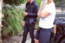 Celebrity Sneaker Watch: Frank Ocean Chops It Up With Rick Rubin in Nike SB Dunk Low 'Supreme'