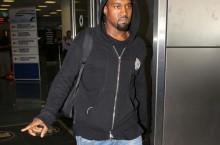 Celebrity Sneaker Watch: Kanye West Wears Nike Air Flight 89 'True Blue'