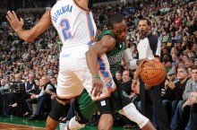 Celebrity Sneaker Watch: Rajon Rondo in Air Jordan IX (9) 'Cool Grey'