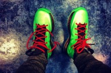Celebrity Sneaker Watch: Teyana Taylor Wears New 'Cutting Jade' LeBron X's