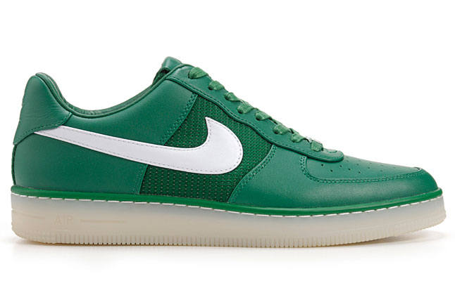 free shipping 7fef2 012b5 Release Reminder: Nike Air Force 1 Downtown Leather QS 'Pine Green/White'