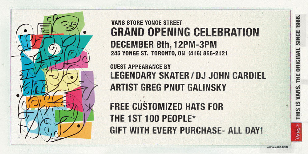 Celebrate Vans' First Two Canadian Stores December 7 & 8