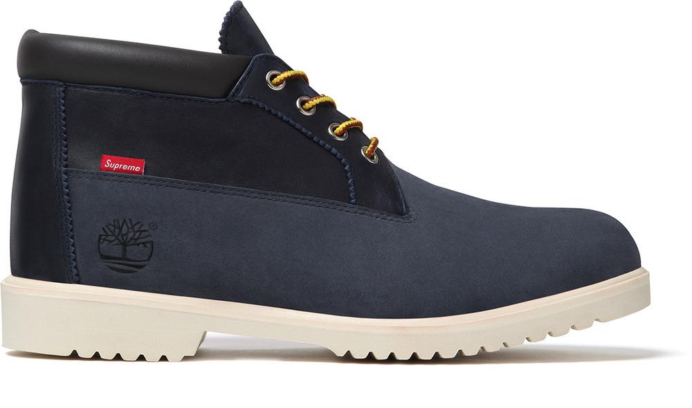Release Reminder: Supreme x Timberland Waterproof Chukka Boot 'Navy'