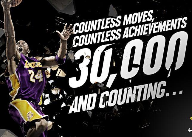 Nike Celebrates Kobe Bryant's 30,000 Point Milestone