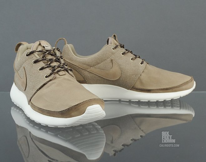 Nike Roshe Run Premium NRG 'Khaki/Khaki-Sail-Black Tea' at Caliroots SFD
