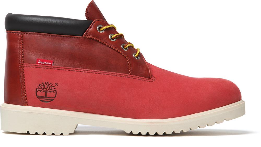 Release Reminder: Supreme x Timberland Waterproof Chukka Boot 'Red'