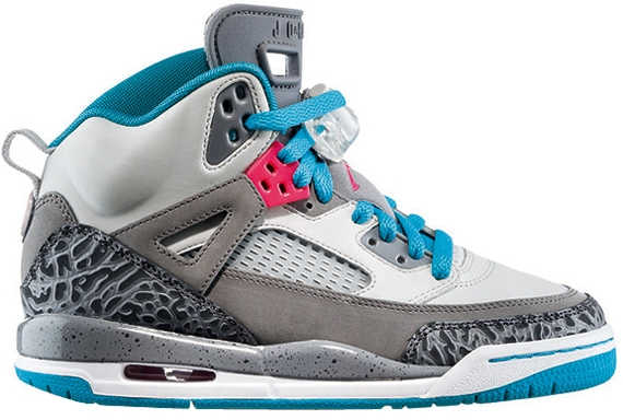 Release Reminder: Jordan Spiz'ike GS 'Cool Grey/Liquid Pink-Purple-White'
