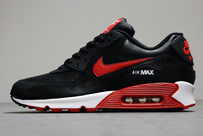 be432f24160d Nike Air Max 90 Essential  Black Sport Red-White