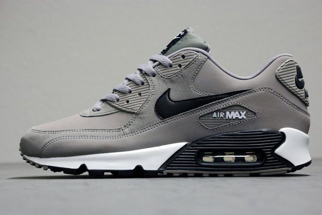 grey and black air max 90