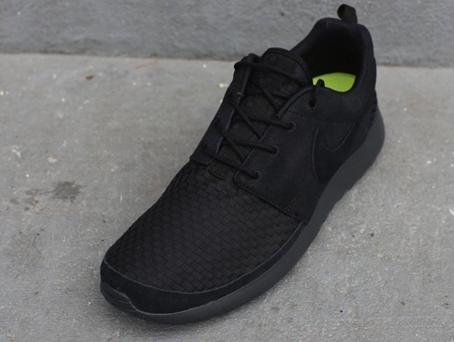 Cheap Buy Nike Roshe Run Woven 'Black/Anthracite-Volt' | SneakerFiles