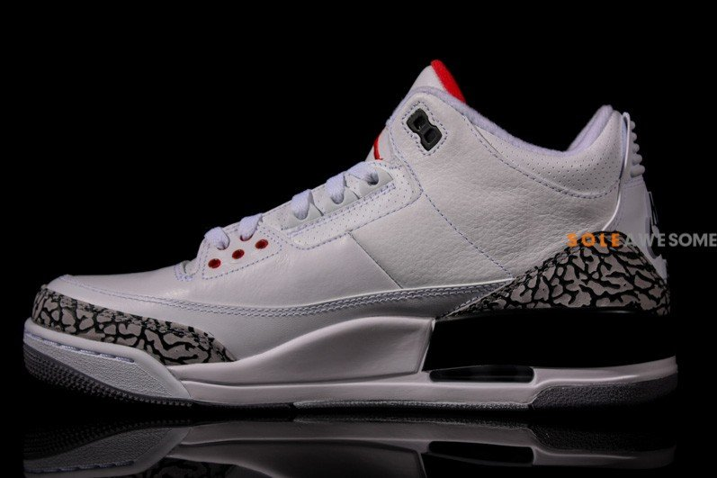 Air Jordan III (3) '88 Retro 'White:Cement' - New Images4