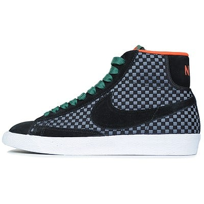 Nike Blazer Mid Woven 'Black:Black-Gorge Green-Team Orange'