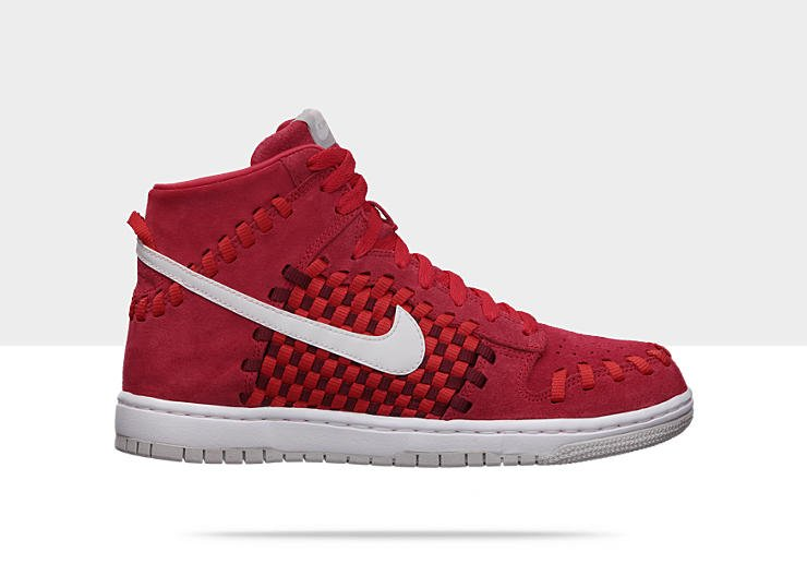 Nike Dunk Woven 'Hyper Red:White-Neutral Grey'