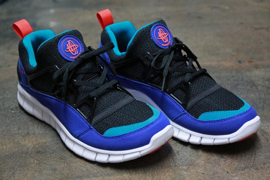 Nike Free Huarache Light 'Black:Team Orange-Concord' at Primitive3