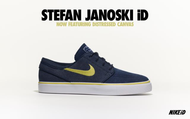 Nike SB Stefan Janoski iD Distressed Canvas Option - Now Available