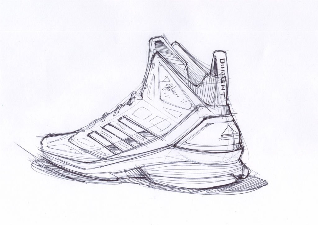 This is a picture of Wild Shoe Design Drawing