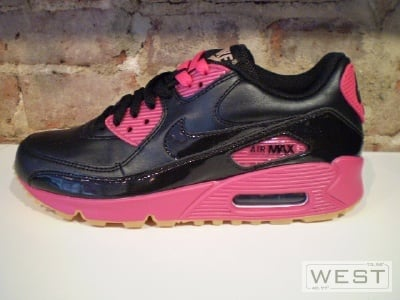 Womens Nike Air Max 90 Black Pink  ef5ac79e06f0