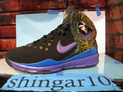 Nike Huarache  08 BBall Sample – Black Blue Purple Multi 8649830d916c
