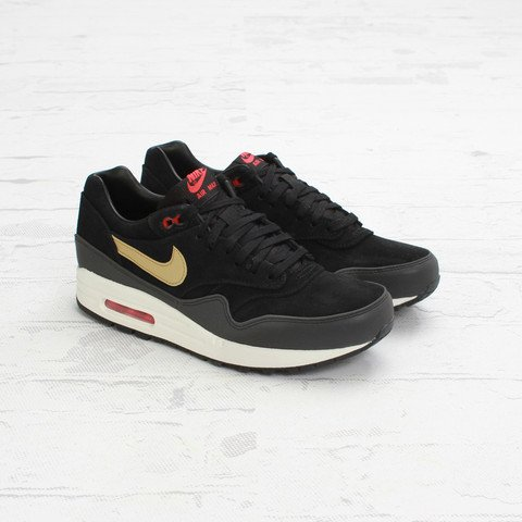 quality design cde51 69cdc Nike Air Max 1 Premium  Black Metallic Gold-Hyper Red-Sail    Concepts