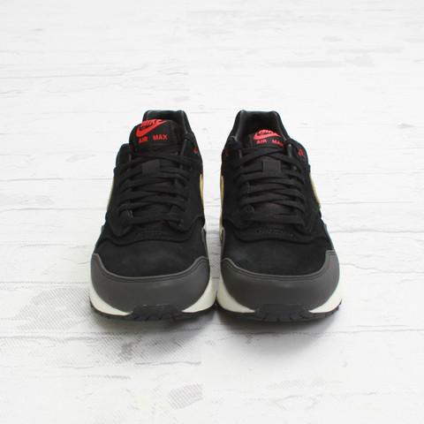 quality design 4cc4a 9a1d3 Nike Air Max 1 Premium  Black Metallic Gold-Hyper Red-Sail    Concepts