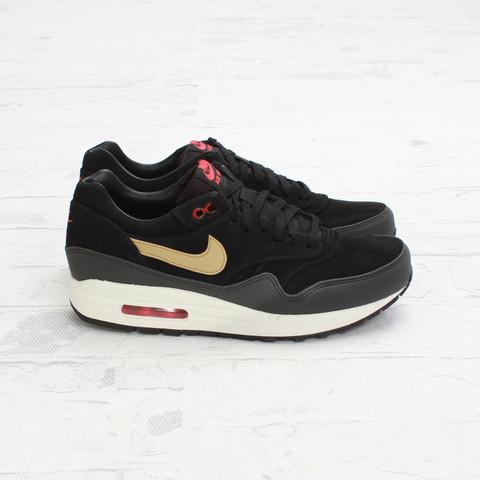 online store 7ac77 50657 Nike Air Max 1 Premium  Black Metallic Gold-Hyper Red-Sail    Concepts    SneakerFiles