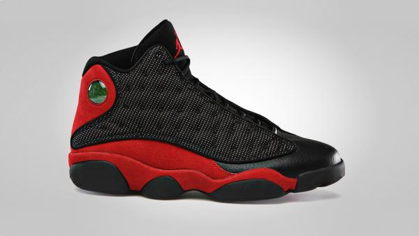 free shipping b2f35 b50d5 Release Reminder  Air Jordan XIII (13)  Black Varsity Red-White