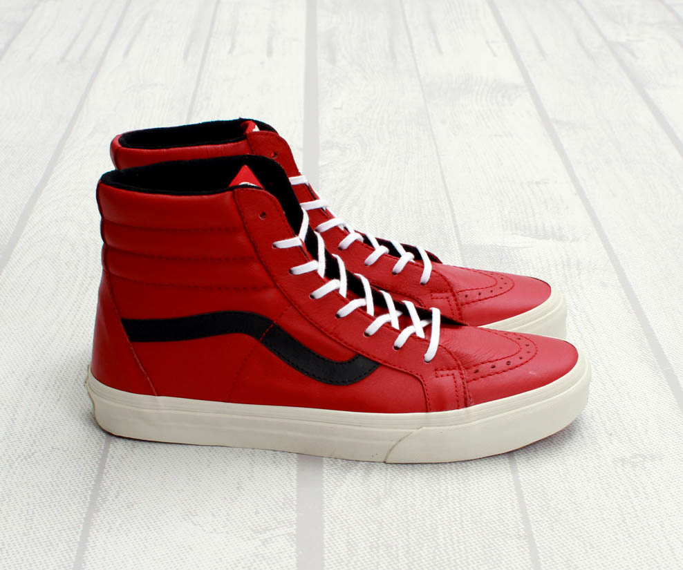 vans sk8hi reissue chili pepper sneakerfiles