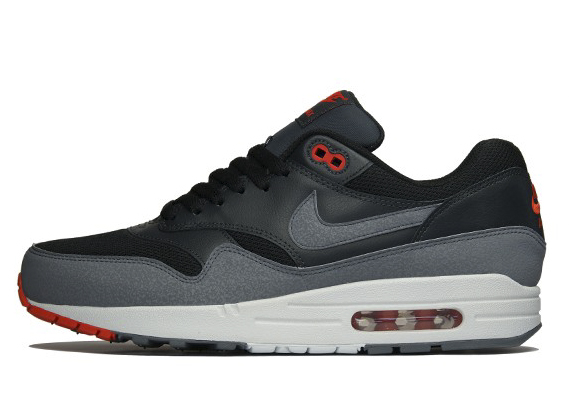 brand new 53431 a6e86 high-quality Release Reminder Nike Air Max 1 Essential Black Cool Grey  Anthracite Team Orange