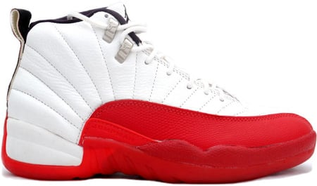 red and white 12s jordans