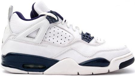 7eee4efb876 Air Jordan 4 (IV) Retro White / Columbia Blue - Midnight Navy | SneakerFiles