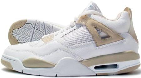 Air Jordan 4 (IV) Retro Womens White / Boarder Blue ...