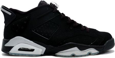 Air Jordan 6 Vi Retro Black Metallic Silver Low