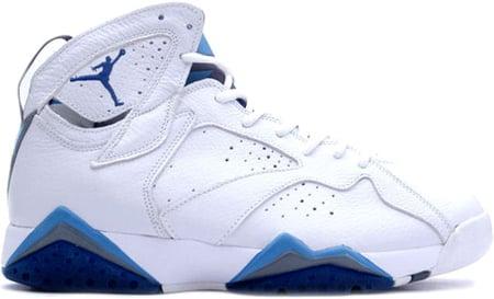 ... Sneakers In Brown sale Air Jordan 7 (VII) Retro White French Blue -  Flint Grey ...