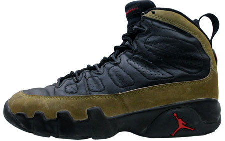 reputable site d8218 ca258 Air Jordan Original – OG 9 (IX) Olives Black – Light Olive – True Red