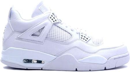 Air Jordan 4 Iv Pure Retro White Metallic Silver