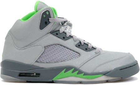 Air Jordan 5 V Retro Green Beans Silver Green Bean